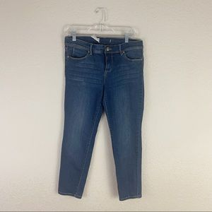 Free People Straight Leg Distressed Pockets Jeans
